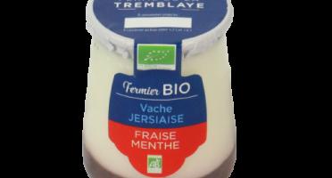 Ferme de La Tremblaye - Yaourt de vache Jersiaise Fermier Bio Fraise & Menthe x1
