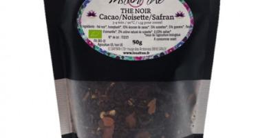 Le safran - l'or rouge des Ardennes - Thé noir bio Cacao Noisettes Safran, 50g, 35 tasses