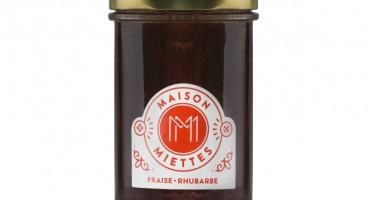Maison Miettes - Confiture Fraise Rhubarbe - 240g