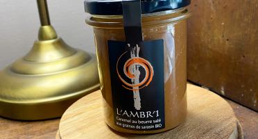 L'AMBR'1 Caramels et Gourmandises - Crème de Caramel aux graines de Sarrasin BIO - Pot De 220g