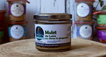 La Bourriche aux Appétits - Rillettes de Mulet de Loire au Citron et Gingembre 80 g