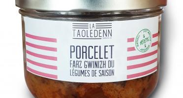 La Chikolodenn - Echine De Porcelet Confit, Semoule (farz) Sarrasin, Légumes Au Citron Confit, Plat Individuel 280g
