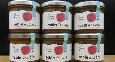 Robin des Bio - Lot De Petit Pot Bébé Bio Et Locaux - 6x Pomme ( Dès 4 Mois)