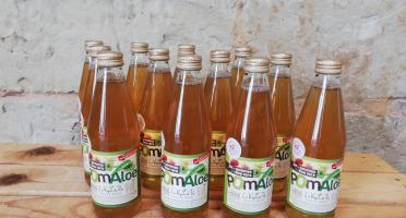 Les Vergers du Parc - Pom'aloe - Jus De Pommes À L'aloe Verra - 12 X 33cl