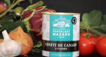 Fontalbat Mazars - Confit de canard boite 2 cuisses