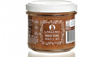 Les délices de Noémie - Lot de 6 Compotes Pomme - Vanille Bio pour Bébé dès 6 mois