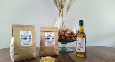 Domaine L'Hermiton - Coffret BIO Farine Petit Epeautre IGP 2 kg - Huile de noix 50 cl