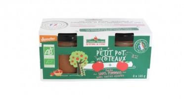 Les Côteaux Nantais - Purée Pommes 2x120g Bio Demeter