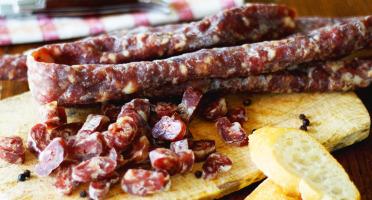 La ferme d'Enjacquet - Saucisse sèche porc faite maison 200g