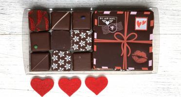 Déclinaison Chocolat - Message d'Amour à Personnaliser et 18 Chocolats