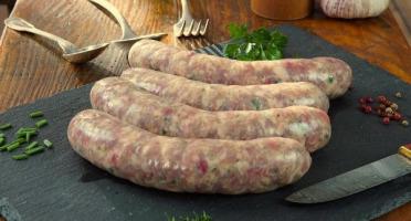 La Ferme du Chaudron - Saucisses Campagne de Porc BIO - 500 g