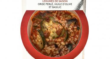 La Brouette - Pour 1 Pers. - Légumes de saison orge perlé, huile d'olive et basilic - Convient aux végétariens
