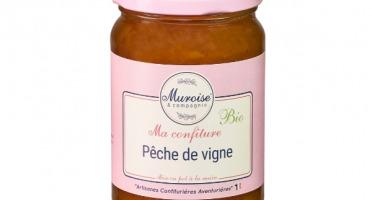 Muroise et Compagnie - Confiture de Pêche de Vigne Bio - 350 gr
