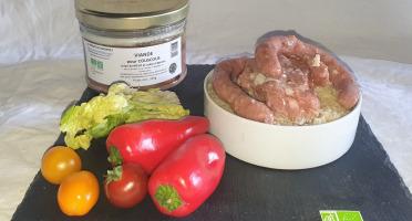La Ferme du Montet - Viande de Bœuf et Agneau BIO pour Couscous - 350 g