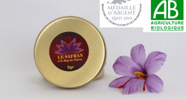Le safran - l'or rouge des Ardennes - Safran En Filaments BIO 3g