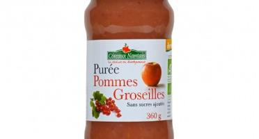 Les Côteaux Nantais - Purée Pommes Groseilles 360g Demeter