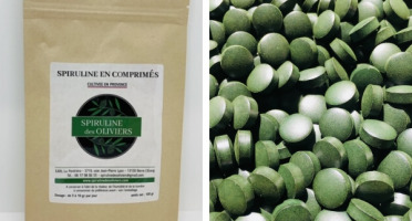 Spiruline des Oliviers - Spiruline En Comprimés Cultivée En Provence - 5 Sachets De 100g