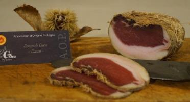 Charcuterie Mannei - Lonzo de Corse - Lonzu - AOP- Porc Noir Nustrale