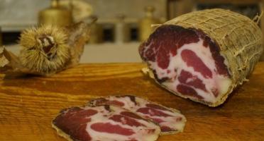 Charcuterie Mannei - Coppa Fermière de Porc Noir Nustrale - Affinée 8 Mois en Morceau