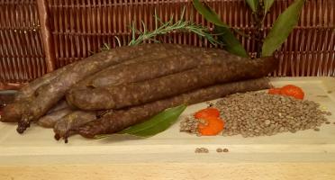 Ferme du caroire - Saucisses de Chèvre et Bœuf Fumées Fines (x8)