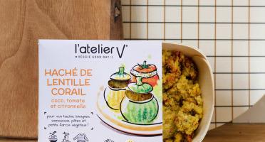 L'Atelier V* - Haché de lentilles corail, coco, tomate et  citronnelle