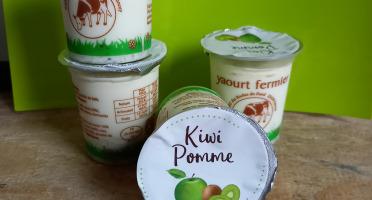 Ferme Chambon - Yaourts Au Lait Cru Et Aux Fruits (pomme-kiwi) X12