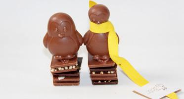 Mon jardin chocolaté - Pingouins de Pâques Chocolat Au Lait