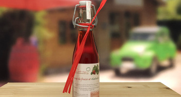 Les Perles Rouges - Sirop Duo Fraise-rhubarbe