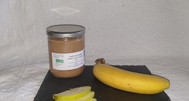 La Ferme du Montet - Compote Pommes Banane sans sucre ajouté BIO - 420 g