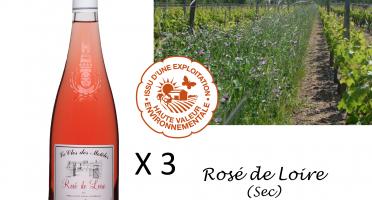 Le Clos des Motèles - Aoc Rosé De Loire 2019. 3 Bouteilles