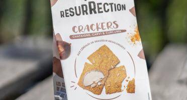 Crackers Résurrection - Crackers Châtaigne, curcuma & carvi  aux céréales de brasseur revalorisées