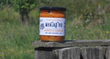 Manjar Viu : Légumes lacto fermentés - Jardinière de légumes Bio - lacto-fermentée - 400 g