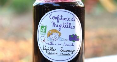 Papilles Sauvages - Confiture De Myrtilles Sauvages D'ardèche -350g - Bio