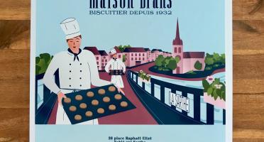 Biscuiterie Maison Drans - Boîte Fer Garnie De Sablés Au Beurre Aop 1000g - Bleu Ciel
