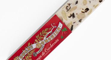 Maison Jonquier - Nougat Blanc Tendre Saveur Cranberries