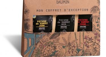 Epices Max Daumin - Coffret Noël Poivres - Trilogie De Kampot (noir, Jaune, Rouge Bio & Igp)