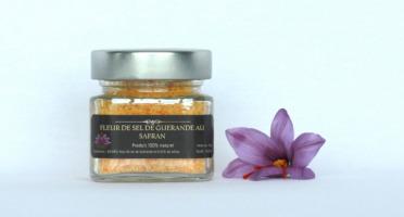 Le safran - l'or rouge des Ardennes - Fleur De Sel De Guérande Au Safran En 80 G