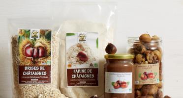 GAEC Roux - Coffret Châtaignes d'Ardèche - 4 produits