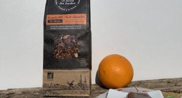Ferme des Jardins - Granola Bio Or Brun :  Chocolat, Noisette Du Piemontet Amandes