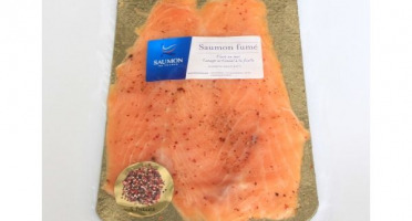Saumon de France - Saumon de France mariné aux 5 baies - 4 tranches - 180 g