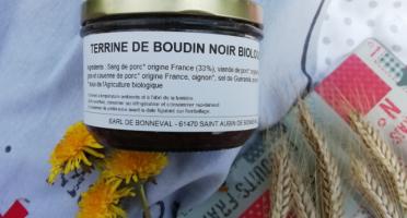 La Ferme de Bonneval - Terrine De Boudin Noir De Porc Bio, 180g