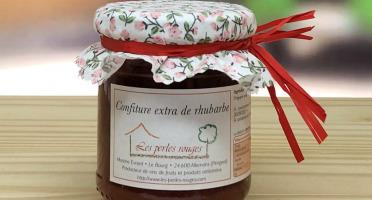 Les Perles Rouges - Confiture Extra De Rhubarbe