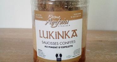 Ferme AOZTEIA - 7 Saucisses Confites De Porc Basque Kintoa