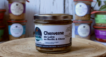 La Bourriche aux Appétits - Rillettes de Chevesne de Loire au Basilic et Citron