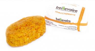 BEILLEVAIRE - Préparation de beurre travaillé aux piments d'Espelette