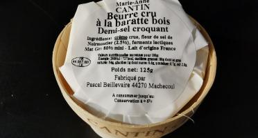 La Fromagerie Marie-Anne Cantin - Bourriche De Beurre Cru À La Baratte Demi-sel Croquant - 125 Gr