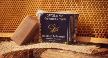Les Ruchers de Normandie - Savon Miel-Propolis-Cire d'abeille 100g