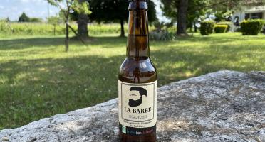 """Vignobles Fabien Castaing - Bière Artisanale Blanche """"La Barbe"""" Haute Fermentation - 12x33cl"""