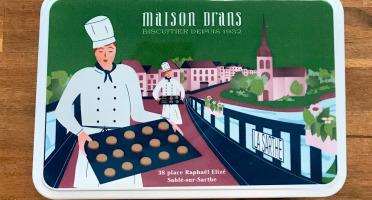 Biscuiterie Maison Drans - Boîte Fer Garnie De Sablés Au Beurre Aop 500g - Vert