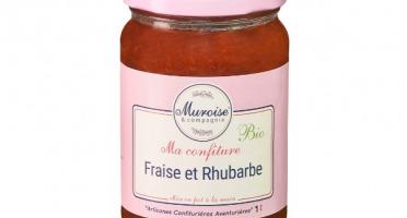 Muroise et Compagnie - Confiture de Fraise et Rhubarbe Bio - 350 gr